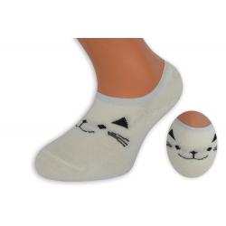 Biele nízke detské ponožky