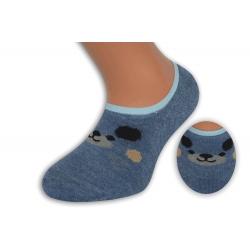 Modré nízke detské ponožky