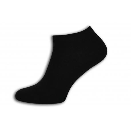 Lacné čierne členkové ponožky