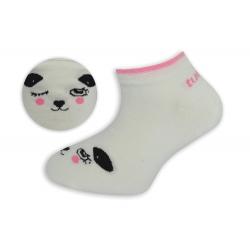 90%-né bavlnené detské ponožky - biele