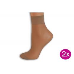Silónkové ponožky so širokým lemom - telové