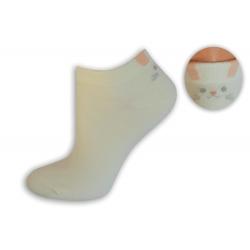 Maslové bambusové ponožky s mačičkou