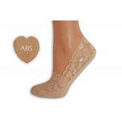 Balerínkové ponožky so srdiečkami - telové