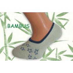 Sivé bambusové ponožky s hviezdami