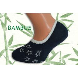 Tm. modré bambusové ponožky s hviezdami