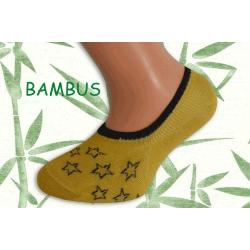 Žlté bambusové ponožky s hviezdami
