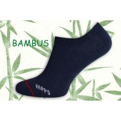 HAPPY. Bambusové ponožky do tenisiek