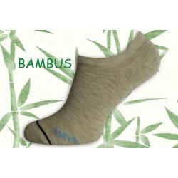 HAPPY. Bambusové ponožky do tenisiek - prírodné