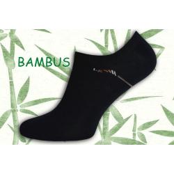 Tmavé extra nízke bambusové ponožky