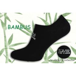 NOVINKA. Čierne bambusové nízke ponožky