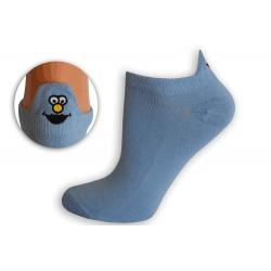 EMOJI MILUČKÝ.Kotníkové belasé ponožky