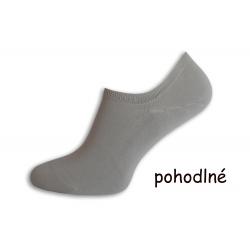 Pánske ponožky do tenisiek - sivé