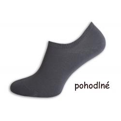 Pánske ponožky do tenisiek - šedé