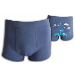 Detské modré boxerky s autom