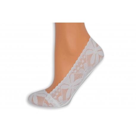 Biele Turecké krajkové ponožky