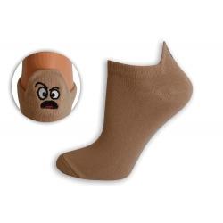 EMOJI PRÍSNÝ. Kotníkové biele ponožky