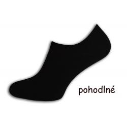 Pánske ponožky do tenisiek - čierne
