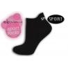 Športové čierne ponožky z mikrovlákna