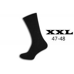 Nadrozmerné sivo-čierne pánske ponožky