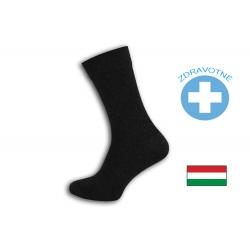 Zdravotné antracitové pánske ponožky