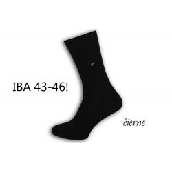 IBA 43-46!  Pánske čierne vysoké ponožky