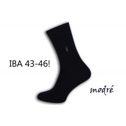 IBA 43-46! Pánske modré vysoké ponožky