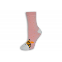 Ružové ponožky so žirafkou
