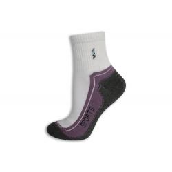 95%-né bavlnené športové ponožky. Fialové.