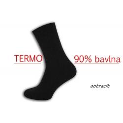 90%-né bavlnené pánske sntracitové teplé ponožky
