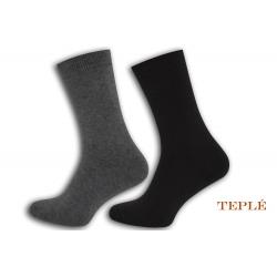 Teplé pánske ponožky. 2 páry. Sivo-šedé