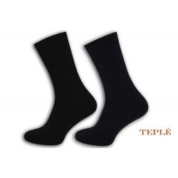 Teplé pánske ponožky. 2 páry. Modro-čierne