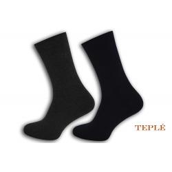 Teplé pánske ponožky. 2 páry. Sivé, modré.