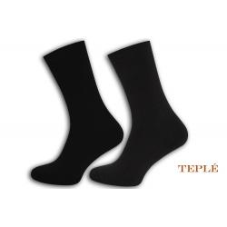 Teplé pánske ponožky. 2 páry. Šedá, čiena.