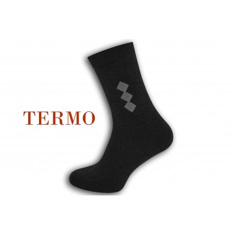 Teplé modré pánske ponožky so vzorom .