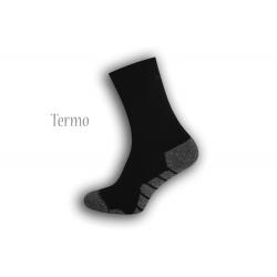 Čierne vzorované termo ponožky