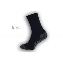 Modré vzorované termo ponožky