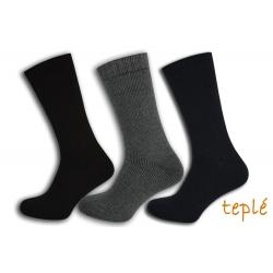 Lacné teplé pánske ponožky. Tri páry.