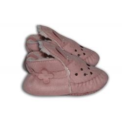 Ružové látkové papuče pre najmenších