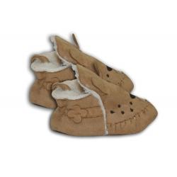 Prírodné látkové papuče pre najmenších