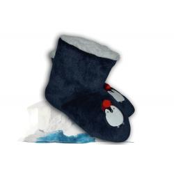 Modré vysoké papuče s tučniakom
