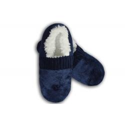 Modré pánske nízke papuče