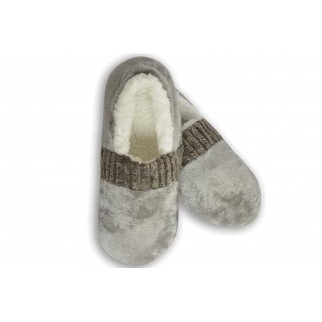 Sivé pánske nízke papuče