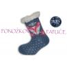 IBA 28-31! Ponožkové papuče modré s líšlou