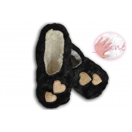 Extra jemné dámske nízke papuče - čierne