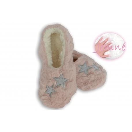 Extra jemné dámske nízke papuče - ružové