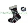 IBA 32-35!  Pásikavé ponožkové papuče s ABS -tm.modré