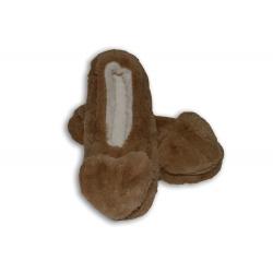 Medové dámske ponožky so srdiečkom
