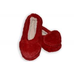 Červené dámske ponožky so srdiečkom