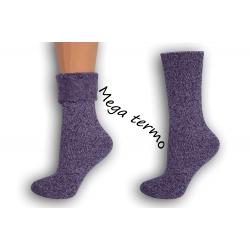 Najteplejšie dámske ponožky do -25 °C - fialové