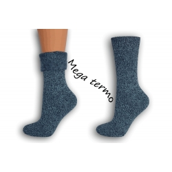 Najteplejšie dámske ponožky do -25 °C - modré